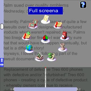 small Web Browsing on a Palm   Picsel Browser review