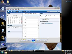 Windows Vista Contacts and Calendar